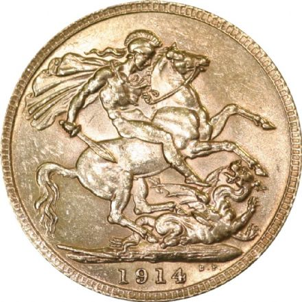 1914 George V Half Sovereign